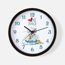 Love My Pooch- Wall Clock