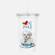 Love My Pooch- Acrylic Double-wall Tumbler