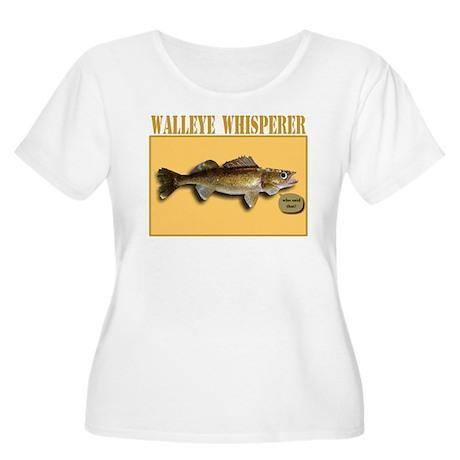Walleye Whisperer Women's Plus Size Scoop Neck T-S