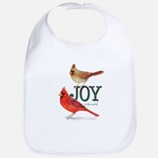 Holiday Cardinals Bib