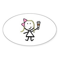 Coffee - Blonde Oval Decal