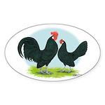 Black Dutch Bantams Oval Sticker