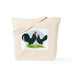 Black Dutch Bantams Tote Bag