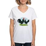 Black Dutch Bantams Women's V-Neck T-Shirt