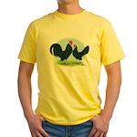 Black Dutch Bantams Yellow T-Shirt