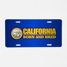 California Born and Bred Aluminum License Plate
