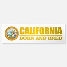 California Born and Bred Bumper Bumper Bumper Sticker