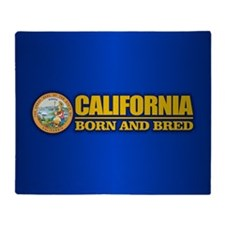 California Born and Bred Throw Blanket