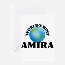 World's Best Amira Greeting Cards