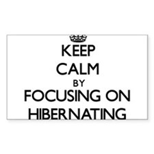 Keep Calm by focusing on Hibernating Decal