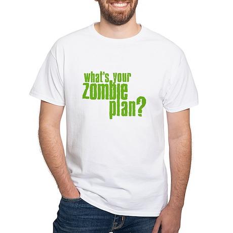Zombie Plan White T-Shirt