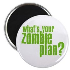"""Zombie Plan 2.25"""" Magnet (10 pack)"""