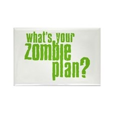 Zombie Plan Rectangle Magnet