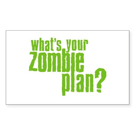 Zombie Plan Rectangle Sticker