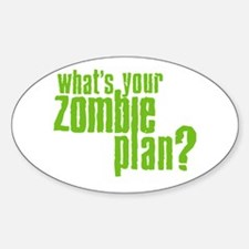 Zombie Plan Oval Decal