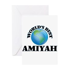 World's Best Amiyah Greeting Cards