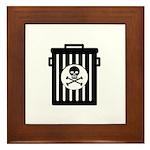 Skull Trash Framed Tile