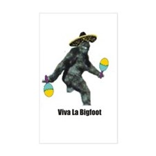 Viva La Bigfoot Rectangle Decal