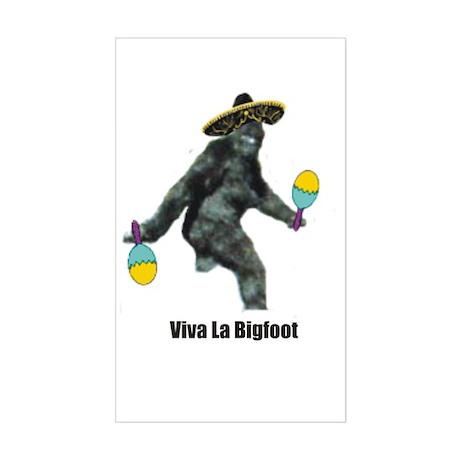 Viva La Bigfoot Rectangle Sticker
