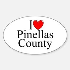 """I Love Pinellas County"" Oval Decal"