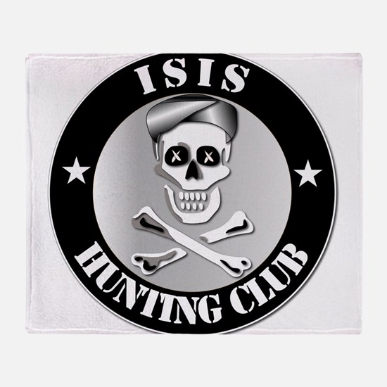 ISIS Hunting Club Throw Blanket