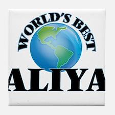 World's Best Aliya Tile Coaster
