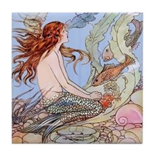 Warwick Goble Mermaid! Kids Tile Coaster