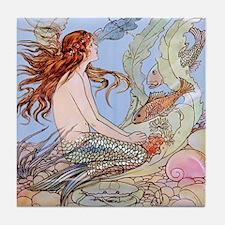 Warwick Goble Mermaid! Kids Tile Coaster