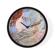 Warwick Goble Mermaid! Kids Wall Clock