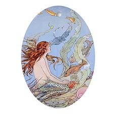 Warwick Goble Mermaid! Kids Ornament (Oval)