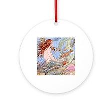 Warwick Goble Mermaid! Kids Ornament (Round)
