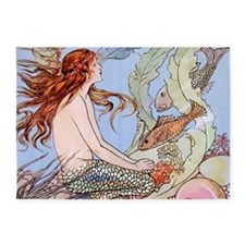 Warwick Goble Mermaid! Kids 5'x7'Area Rug