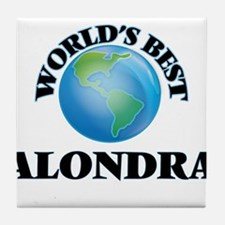 World's Best Alondra Tile Coaster