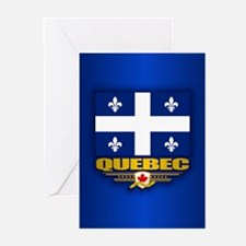 Quebec Flag Greeting Cards