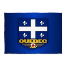 Quebec Flag 5'x7'Area Rug