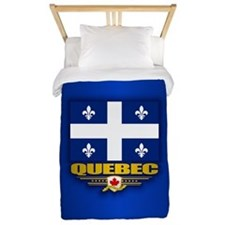 Quebec Flag Twin Duvet