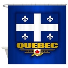 Quebec Flag Shower Curtain