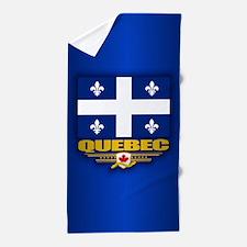 Quebec Flag Beach Towel