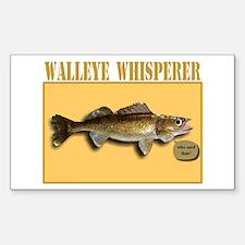 Walleye Whisperer Rectangle Decal