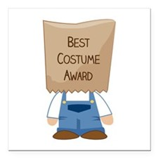 "Best Costume Award Square Car Magnet 3"" x 3"""