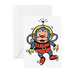 Space Monkey Greeting Cards (Pk of 10)