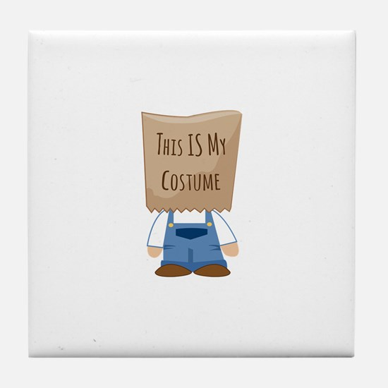 This Is My Costume Tile Coaster