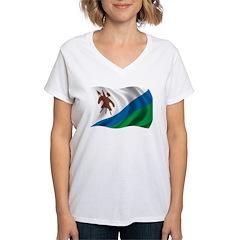 Wavy Lesotho Flag Shirt