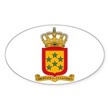 Neth Antilles Coat of Arms Oval Decal