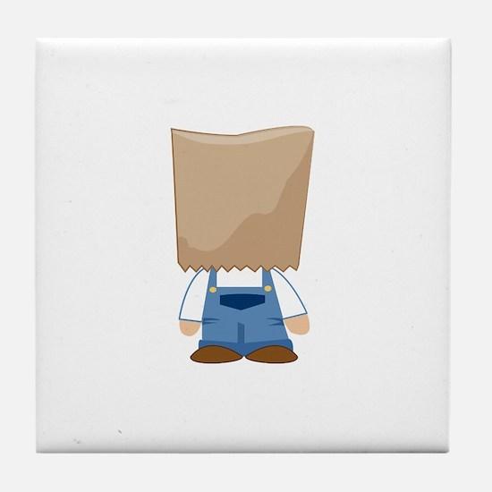 Paper Bag Costume Tile Coaster