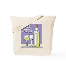 Team White Wine Tote Bag