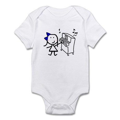 Girl & Piano Infant Bodysuit