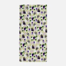 Wine Lovers Art Beach Towel