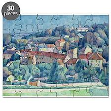 Hardricourt Village and Castle (oil on ca - Puzzle