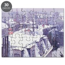 View of Roofs (Snow Effect) or Roofs unde - Puzzle